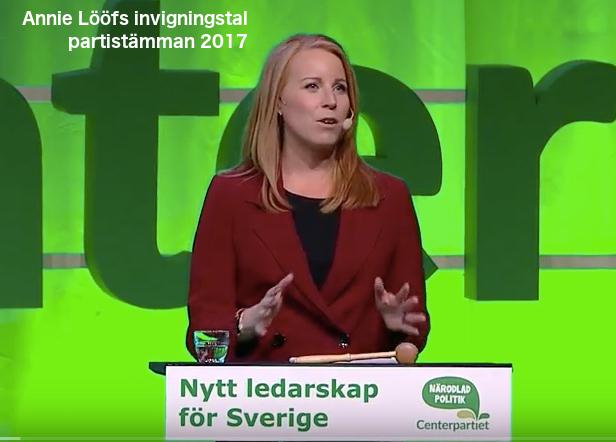 Annie Lööf invigningstalar på partistämman